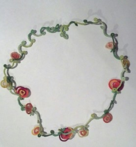 Challenge Accepted – Reader Submission for Weekly Challenge #24 - Pumpkin Patch Necklace - Tatted by Natalie Rogers.